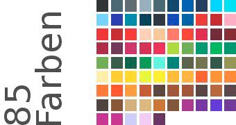 Ponge in 85 Farben